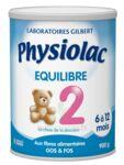 PHYSIOLAC EQUILIBRE 2 Lait pdre B/900g à TOULOUSE