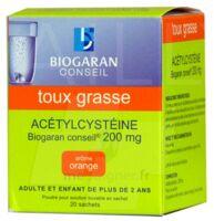 Acetylcysteine Biogaran Conseil 200 Mg Pdr Sol Buv En Sachet B/20 à TOULOUSE