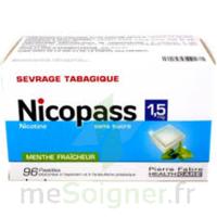 Nicopass 1,5 Mg Pastille Sans Sucre Menthe Fraîcheur Plq/96 à TOULOUSE