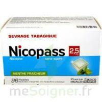 Nicopass 2,5 Mg Pastille Menthe Fraîcheur Sans Sucre Plq/96 à TOULOUSE