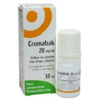 Cromabak 20 Mg/ml, Collyre En Solution à TOULOUSE