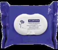Klorane Soins Des Yeux Au Bleuet Lingette Démaquillante Biodégradable 2*packs/25 à TOULOUSE